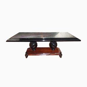 Tavolino da caffè Art Déco in palissandro di Souyeux, Francia, anni '30