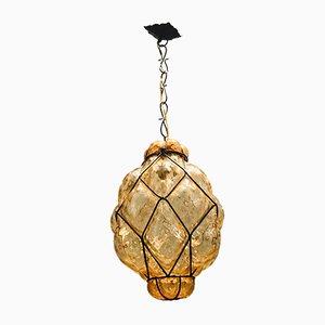 Lampe à Suspension Vintage en Verre de Murano, années 50