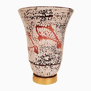 Ceramic Enamel Vase, 1940s