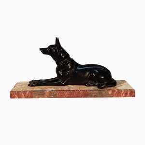 German Art Deco Shepherd Sculpture by Rochard Irénée, 1930s