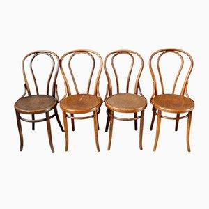Chaises de Salle à Manger N°18 Ancienne de Jacob & Josef Kohn, Set de 4