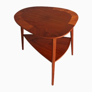 Mid-Century Danish Teak Side Table by Holger Georg Jensen for Kobus, 1960s