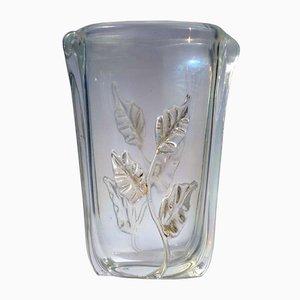 Italienische Art Déco Vase aus Muranoglas von Seguso, 1940er