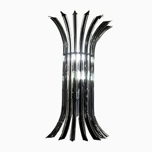 Clear and Gray Murano Glass Curvati Sconce, 1970s