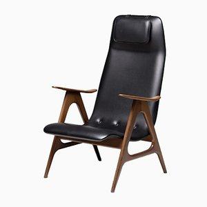 Sessel mit Gestell aus Nussholz von Louis van Teeffelen, 1960er