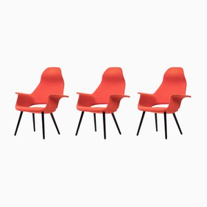 Armchairs by Charles Eames and Eero Saarinen for Vitra, 1940s, Set of 3