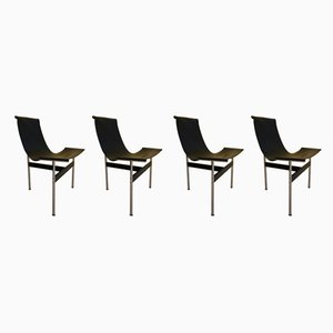 T Lounge Chairs by Ross Littell for ICF, 1960s, Set of 4
