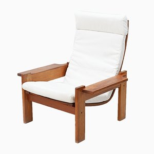 Oak Lounge Chair by Yngve Ekström for Swedese, 1960s
