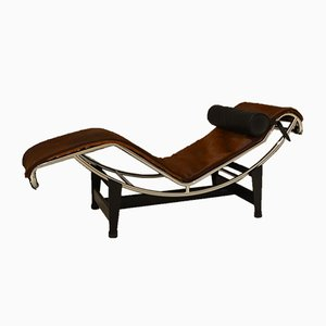 Italian Model LC4 Chaise Lounge by Le Corbusier for Cassina, 1973