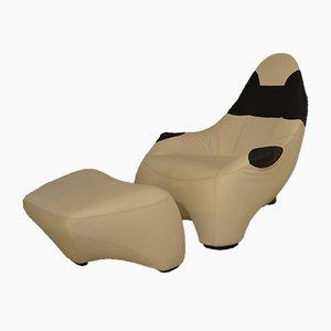 HAL Lounge Chair und Ottoman Set von Marc Sadler für Cassina, 1990er