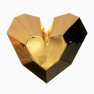 Queen Heart Wandlampe aus Messing von Royal Stranger