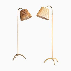 Floor Lamps by Paavo Tynell for Taito Oy, 1940s, Set of 2