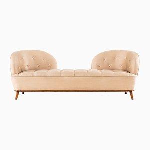 Sofa mit Gestell aus Mahagoni im skandinavischen Stil, 1940er