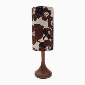 Lámpara de mesa danesa de teca de Dyrlund, años 60