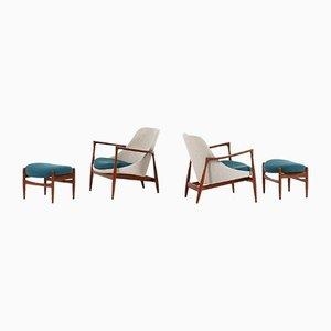 Modell U56 Sessel von Ib Kofod-Larsen für Christensen & Larsen, 1956, 2er Set