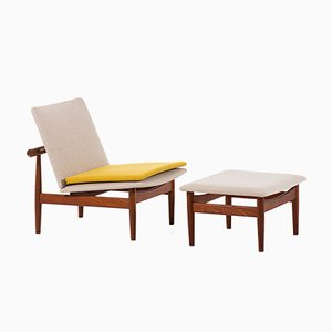 Model FD-137 Japan Lounge Chairs by Finn Juhl for France & Søn / France & Daverkosen, 1950s, Set of 2