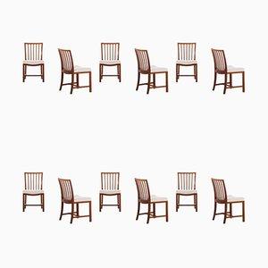 Chaises de Salle à Manger de Frits Henningsen, années 40, Set de 12