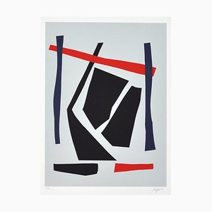 Vintage Danish Screen Print by Robert Jacobsen, 1980s