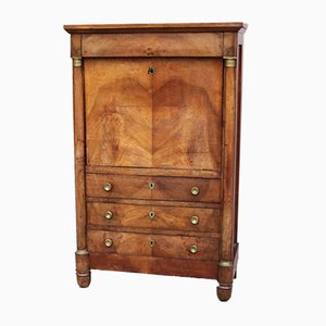Antique Empire Walnut Secretaire