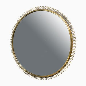 Large Brass Mirror by Josef Frank for Svenskt Tenn, 1950s