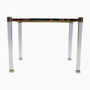 Hollywood Regency Plexiglas and Glass Side Table, 1960s