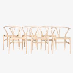 CH24 Wishbone Chairs von Hans J. Wegner für Carl Hansen & Søn, 6er Set