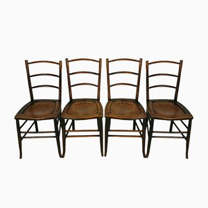 Vintage Bentwood Dining Chairs, Set of 4