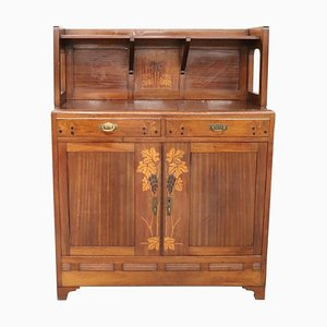Antique Art Nouveau Mahogany Inlaid Sideboard