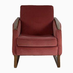 Mid-Century French Velvet Armchair, 1950s