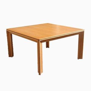 Tavolo da pranzo in legno di castagno di Tobia & Afra Scarpa per Molteni, anni '70