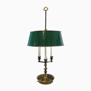 Empire French Brass and Metal Bouillotte Table Lamp, 1950s