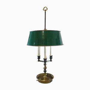 Lampe de Bureau Bouillotte Empire en Laiton et Métal, 1950s