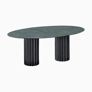 Green Serpentino Marble and Cast Blackened Bronze Doris Dining Table by Fred & Juul