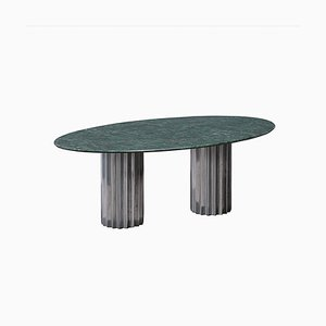 Green Serpentine Marble and Cast Aluminum Doris Dining Table by Fred & Juul
