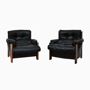 Vintage Bergere Armchairs by Tobia & Afra Scarpa for Maxalto, Set of 2