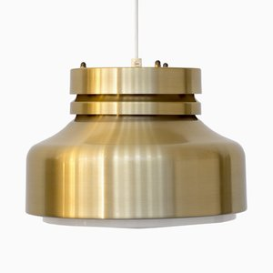 Mid-Century Scandinavian Brass Pendant Lamp, 1970s