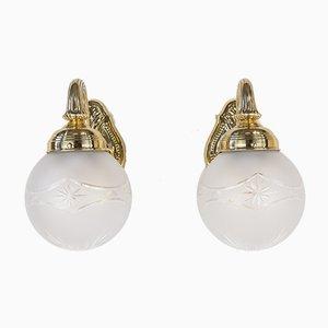 Antike Wandlampen, 1890er, 2er Set