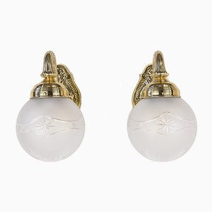 Antique Wall Lights, 1890s, Set of 2