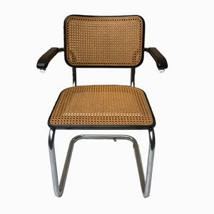 Walnut S64 Armchair by Marcel Breuer for Thonet, 1979