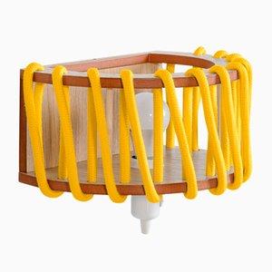 Große gelbe Macaron Wandlampe von Silvia Ceñal für Emko