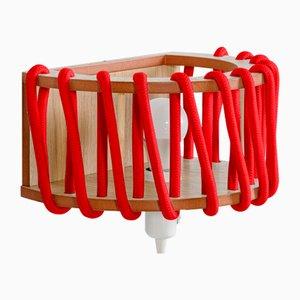 Große rote Macaron Wandlampe von Silvia Ceñal für Emko