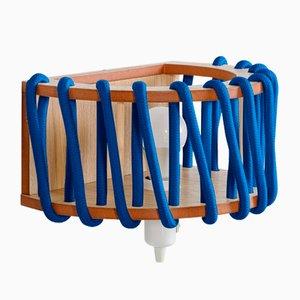 Große blaue Macaron Wandlampe von Silvia Ceñal für Emko
