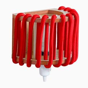 Kleine rote Macaron Wandlampe von Silvia Ceñal für Emko