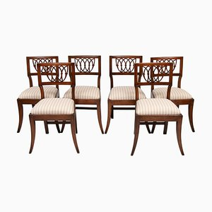 Antique French Cherrywood Dining Chairs, 1800s, Set of 6