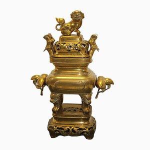 Bruciatore di incenso antico in rame, Cina