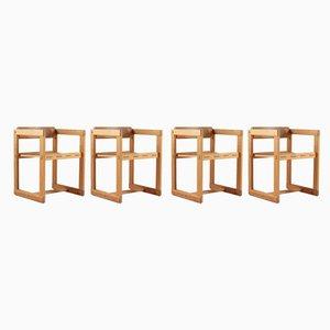 Mid-Century Modell Trybo Esszimmerstühle aus Kiefernholz im skandinavischen Stil von Edvin Helseth, 1960er, 4er Set