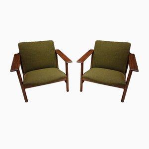 Chaises de Salle à Manger Vintage Vertes de Steiner, Set de 2