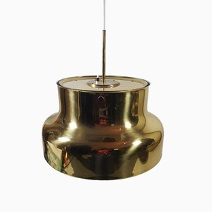 Vintage Brass Ceiling Lamp by Anders Pehrson for Ateljé Lyktan