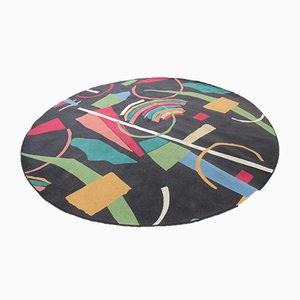 Großer runder ialienischer Teppich, 1960er