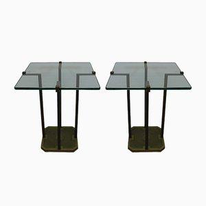 Tables d'Appoint Modèle T18 par Peter Ghyczy, années 70, Set de 2